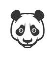 panda logo icon on white background vector image