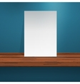 Paper on shelf vector image