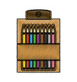 pencil colors packaging vector image vector image