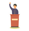 political candidate icon flat style vector image