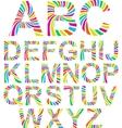 rainbow alphabet vector image