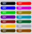 rainbow icon sign Set from fourteen multi-colored vector image