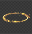realistic 3d detailed gold swirls light disc hazy vector image
