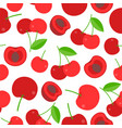 seamless pattern cherries for wallpaper wrapping vector image