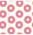 Seamless pattern with doughnut in flat style