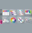 set infographics design vector image