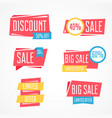 set isolated colorful labels for sale vector image vector image