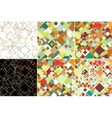 Set of abstract colored backgrounds square design vector image