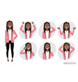 set of emotions for black african american vector image