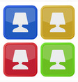 set of four square icons with bedside table lamp vector image vector image