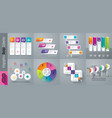 set of infographics design vector image vector image