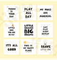 set with fun hand drawn nursery posters vector image vector image