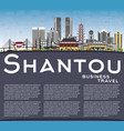 shantou china city skyline with gray buildings vector image vector image