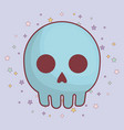 skull icon image vector image vector image