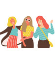 smiling girls close-up womens day friends vector image vector image