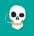 smoker skull icon vector image vector image
