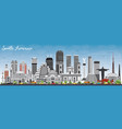 south america skyline with famous landmarks vector image vector image