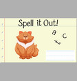 spell english word cat vector image