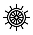 steering wheel icon outline vector image vector image