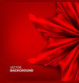 stock red silk fabric satin vector image