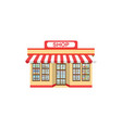 supermarket grocery store icon isolated on white vector image