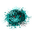 tiger eyes mascot graphic in white background vector image vector image