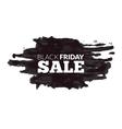 watercolor label on big black friday discounts vector image