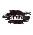 Watercolor label on the big Black Friday discounts vector image