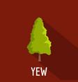 yew tree icon flat style vector image