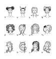 zodiac sign beautiful fashion girl hand vector image vector image