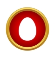 Egg icon in simple style vector image