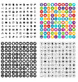 100 database icons set variant vector image vector image