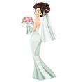 A beautiful bride vector image vector image