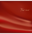 Abstract background Red material with folds vector image