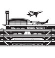 airport transportation hub vector image vector image
