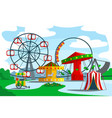 amusement park territory vector image vector image
