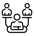 authority hierarchy icon outline style