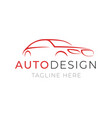 auto logo template car service or dealer shop vector image vector image