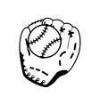 ball glove baseball sport design vector image vector image