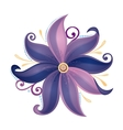 Beautiful Colored Abstract Flower vector image