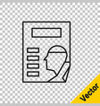 black line cinema poster icon isolated on vector image vector image