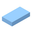 blue brick icon isometric style vector image vector image