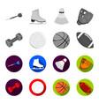 blue dumbbell white soccer ball basketball vector image