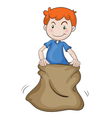 boy and burlap vector image vector image
