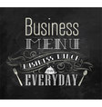 Business lunch chalk menu vector | Price: 1 Credit (USD $1)