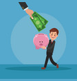 businessman and money cartoons vector image