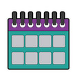 calendar planner date template for week vector image