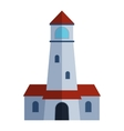 cartoon flat lighthouse vector image vector image