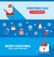 christmas and new year banner set modern flat vector image