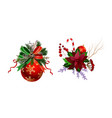 christmas festive decoration from christmas tree vector image vector image